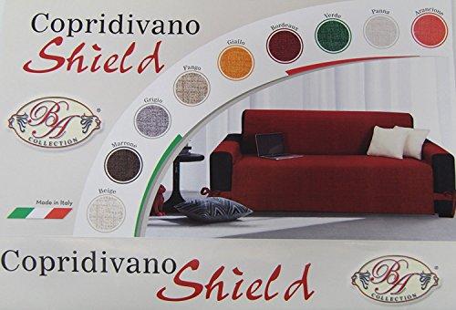 Copridivano Copri Divano SHIELD B&A 3 Posti Con Laccetti Tasconi Laterali