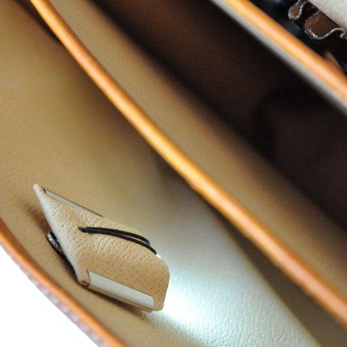Pratesi Pelletterie Vallombrosa Cartable à main en cuir véritable pour homme Chianti