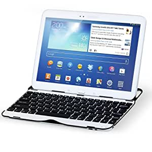 Sharon Samsung Galaxy Tab 3 10.1 GT-P5200 GT-P5210 GT-P5220 Aluminium Case | Cover | Stand with Integrated Samsung Bluetooth Keyboard (QWERTY)