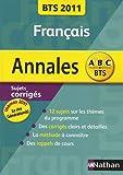 Francais BTS 2011 : Sujet corrigés (Génération(s) / Le rire)...