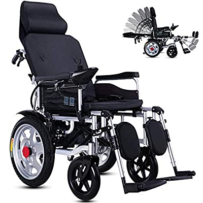 KuiGu Foldable Power Compact Mobility Aid Wheel Chair,Lightweight Electric Wheelchair Portable Medical Scooter