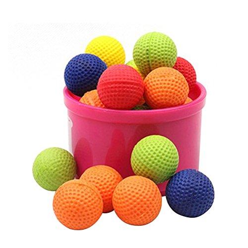 TOYANDONA 100 Stücke Bouncy Balls Bulk Foam Bullet Ball Ersatz Nachfüllpack für Nerf Rivalen Zeus/Apollo/Khaos/Atlas/Artemis Blasters (Bouncy Balls Bulk)
