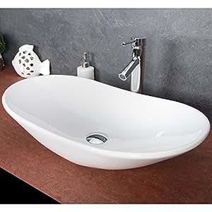 waschbecken oval aufsatz waschtisch designer keramik 781. Black Bedroom Furniture Sets. Home Design Ideas