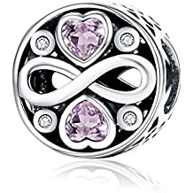 Forever Love argento Sterling 925Bead charm Pandora, braccialetti europei compatibile