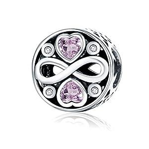 """NINGAN """"I Love You (Ich Liebe Dich)"""" Herz Charm-Anhänger 925 Sterling Silber Charm Bead für Pandora Chamilia und europäische Armbänder und Halsketten"""