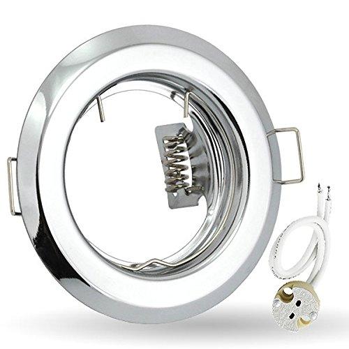 Poliert Chrom-drei-leuchte (K-15 Einbaustrahler Einbauspot GU5,3 MR16 12V Farbe chrom poliert. Ideal für LED und Halogen.)