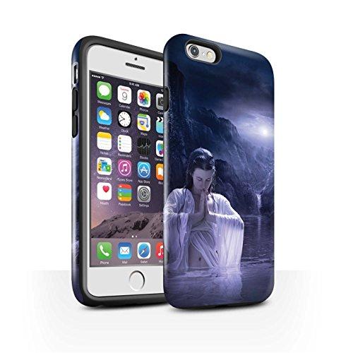 Officiel Elena Dudina Coque / Brillant Robuste Antichoc Etui pour Apple iPhone 6S / Poussière de Lutin Design / Un avec la Nature Collection Lagune À la Nuit