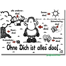 "sheepworld Postkarte ""Ohne Dich ist alles doof"" Nr. 74"
