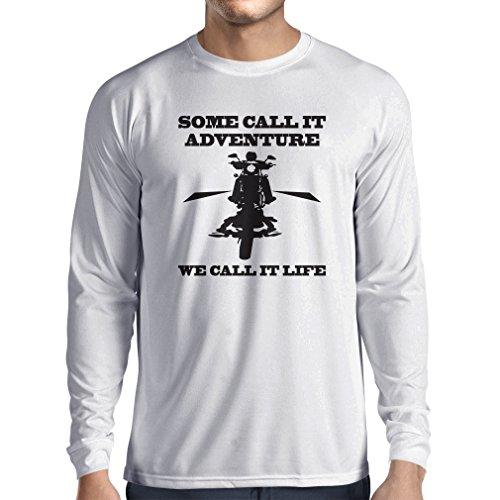 N4689L T-Shirt mit langen Ärmeln We Call it Life! Motorcycle Clothing Weiß Mehrfarben