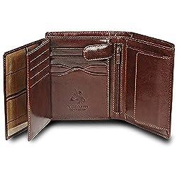 Visconti MONZA 3 Soft Italian Glazed Quad Fold Wallet (Brown)