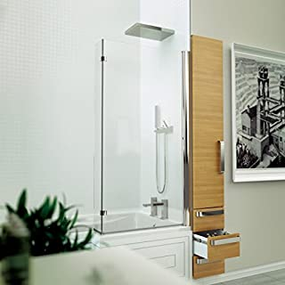 Kudos Inspire 5mm L Shaped Bath Screen 1556 x 810mm