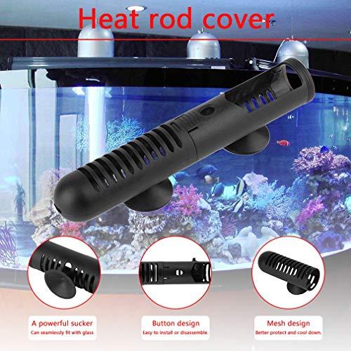 creatspaceE Aquarium-Schutzabdeckung mit Saugnäpfen, Innendurchmesser 3 cm, Schwarz -