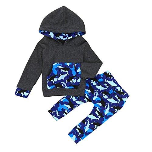 Neugeborenes Baby WalKleidung Longra Baby Jungen Mädchen Kapuzenpullover Langarmshirts Mit Kapuze + Hosen Baby Weihnachts Sweatshirt Kleidung Sets (0-18Monate) (70CM 3Monate, (Ihre Andere Kostüme Länder Und)