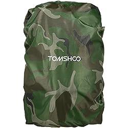 TOMSHOO Cubierta de Lluvia Impermeable para Mochilla 40L-50L para Senderismo Camping Viaje al Aire Libre Verde Negro Naranja(Opcional) (Camuflaje)