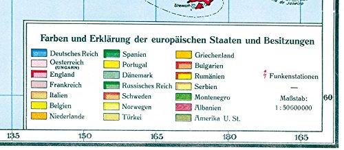 Historische WELTKARTE - KOLONIALKARTE 1910 (gerollt): Alle Infos bei Amazon