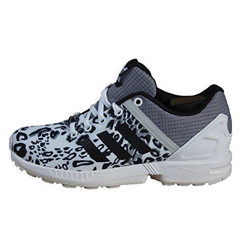 Adidas - Adidas Zx Flux Split K Scarpe Sportive Donna Bianche Tela S78735 Noir