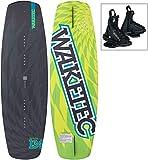 WAKETEC Wakeboard-Set HighRide 134 cm mit Onset Bindung, Package für Anfänger und Fortgeschrittene, leicht zu Fahren, Körpergewicht 40-75 kg, Kinder Erwachsene Einsteiger Set, schwarz grün