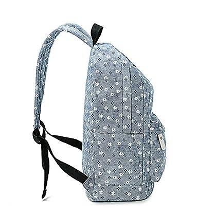 Moollyfox Niña Dulce floral del Estilo fresco Linda la capacidad grande Mochila bolso de escuela Para Adolecente estudiantes