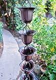 RegenKette zu cup Eisen für Dachrinnen ForHome® bronziert - Fähigkeit