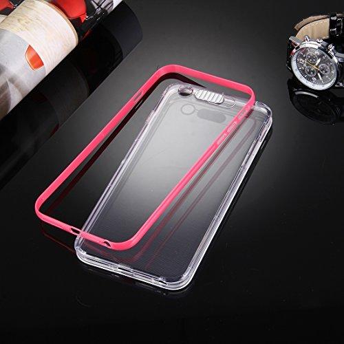 iPhone Case Cover Pour iPhone 6 & 6s Diapositive Slice Design Plastique amovible Flamme Transparent TPU Housse de protection avec appel entrant Flash LED clignotant ( Color : Purple ) Red
