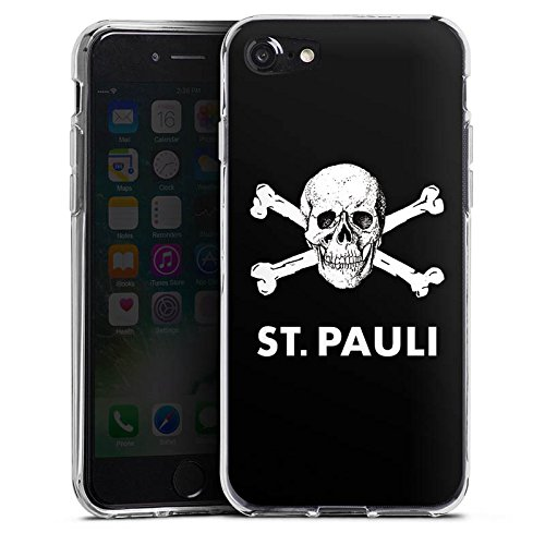 Apple iPhone 8 Plus Silikon Hülle Case Schutzhülle FC St. Pauli Fanartikel Fußball Silikon Case transparent