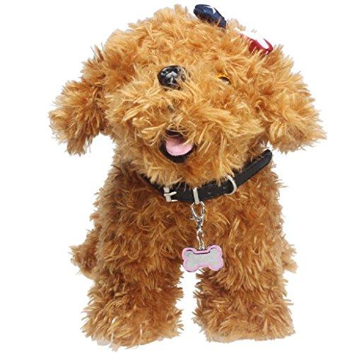 Sannysis mascotas perros accesorios collar huesos de la joyería (Rosa)