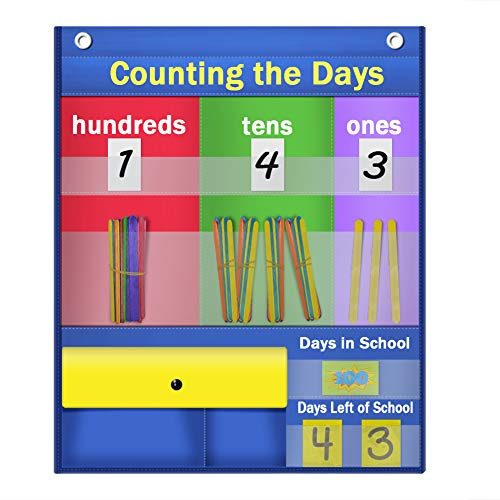 Godery Counting Caddie Pocket Chart & Place Value Charts (Hundreds, Tens, Ones) (Pocket Kalender Chart)