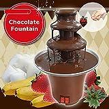 Mini Portable 3-tier Chocolate Fountain Machine Fondue Maker Heated PC Plastic Home Party Fountain EU Plug Regard - 7