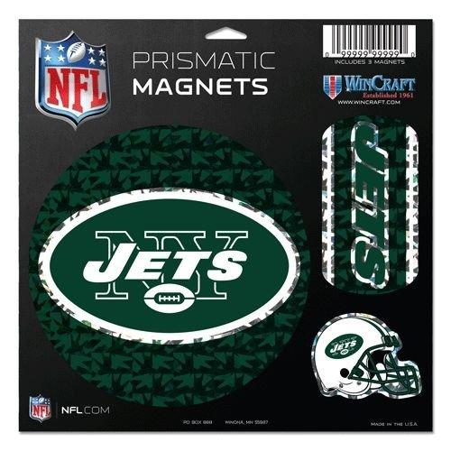 Wincraft NFL New York Jets Prismatische Magnete, 28 x 28 cm, Teamfarbe Nfl-magnet-jets