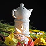 #6: Kartique Ceramic Electric Diffuser | Kettle Shape | Night Lamp | Light | With 10 Ml Aroma Oil Lemon Grass & Replacment Bulb