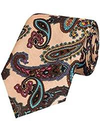 Tiekart Pink Formal Paisley Cotton Printed Tie for Men