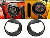 FuriAuto Q90038-WH-black Avant Phare De Lumière Grille De Pare-Chocs Angry Brid Style Abs Noir