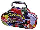 #8: EMOB B Sun and Moon Burning Shadows Trading Card Game Multicolored Cartoon Metal Tin Pack with 82 Trading & additional 30 Booster Cards Set
