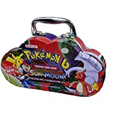 Emob B Sun And Moon Burning Shadows Trading Card Game Multicolored Cartoon Metal Tin Pack With 82 Trading And Additional 30 Booster Cards Set