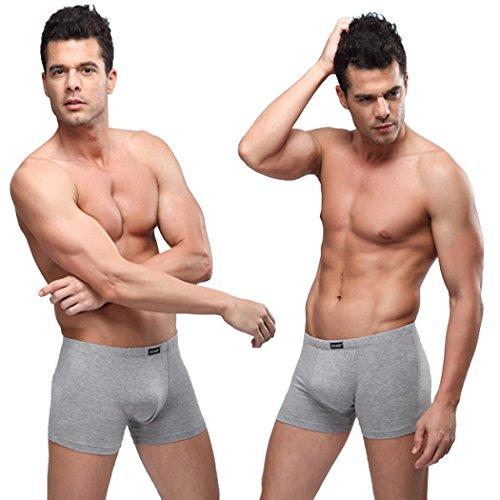 VENI MASEE® Sexy Sport Modal Unterwäsche der Herren Kurze Hellgrau