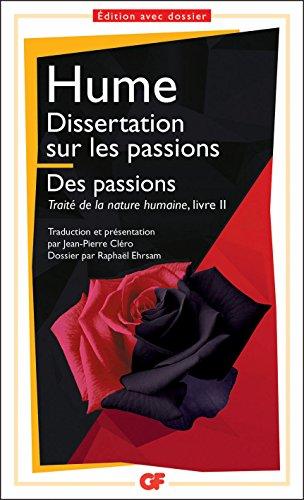 hume dissertation sur les passions gf 557