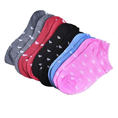 covermason-Mujer-Deportes-Casual-Tobillo-Calcetines-de-algodn-5-pares
