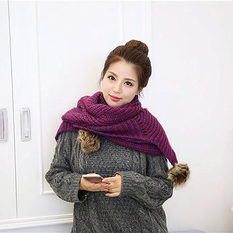 XMQC*Sciarpe di tessitura a maglia inverno caldo