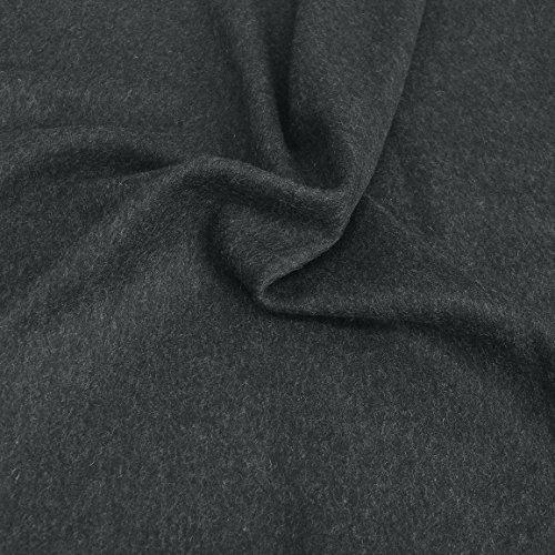Winter Wollstoff als Meterware am Stück, weiches dicht gewebtes Wolltuch für Mantel, Jacke, Sakko (Anthrazit) (Wolle Stoff Jacke Mantel)