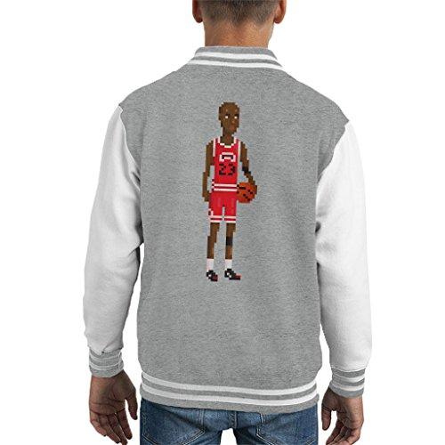 Cloud City 7 Michael Jordan Body Pixel Kid's Varsity Jacket (11 Kids Jam Space)