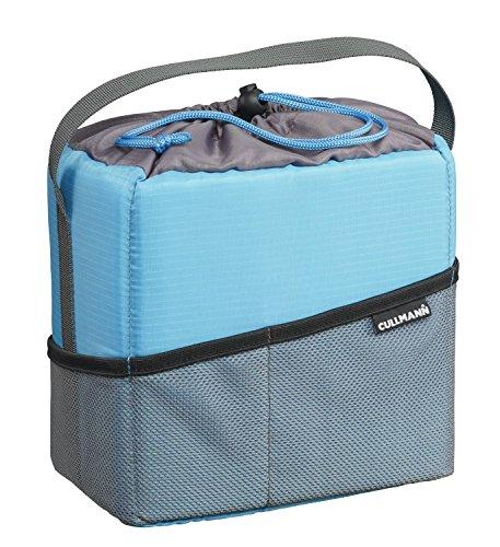Cullmann Medium Shock Schutztasche für CSC- und DSLR-Ausrüstung -Cyan/Grau (Camera Bag Insert Für Rucksack)