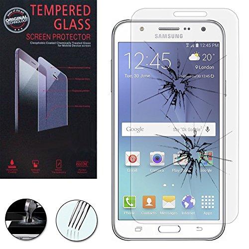 VComp-Shop® Hochwertige gehärtete Panzerglasfolie für Samsung Galaxy J5 SM-J500F - TRANSPARENT