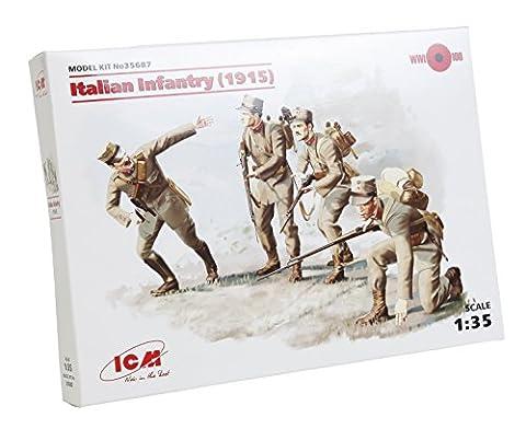 ICM 35687–1/35WWI italienne d'Infanterie, 4figurines