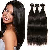IFLY tissage brésilien lisse lot cheveux bresilien lisse tissage en lot tissage cheveux humain bresilienne raide mèches bresiliennes naturelles total (18 20 22pouce)