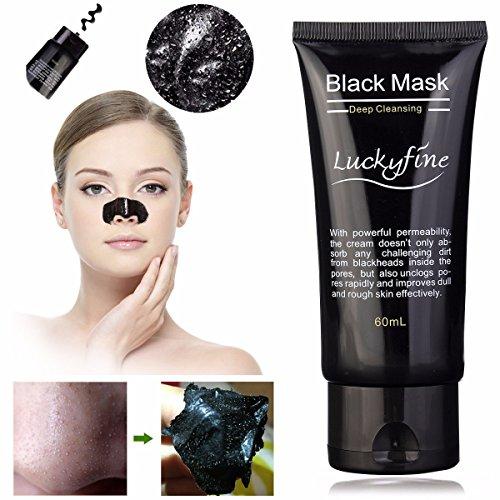 LuckyFine removedor de la espinilla limpia limpiador purificante pelar barro negro máscara del acné