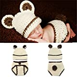 SJHO Baby Photography Puntelli Baby Photography Fatti A Mano Bunny Costumes-Baby Fancy Dress0-3 Mesi Baby White