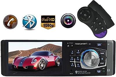 PolarLander radio de coche de apoyo al jugador de manos libres Bluetooth Car Audio EstšŠreo