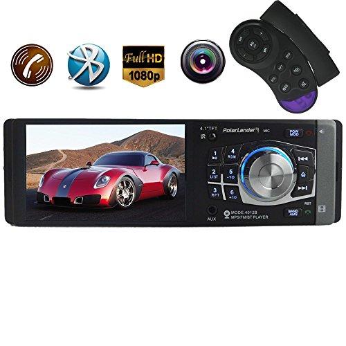PolarLander 4,1-Zoll-HD-TFT-Bildschirm Autoradio -Stereo Bluetooth 1 din Größe Unterstützung Rückfahrkamera TF USB-AUX-IN-MP4 MP5