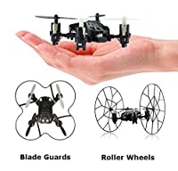 Top Race 4-Channel Micro Mini-Drone Rolling Quadcopter with Wheels, Fly, Roll, and Flip, TR-MQ3 by Top Race