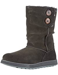 Skechers Keepsakes Freezing Temps - Botas planas, color: Gris